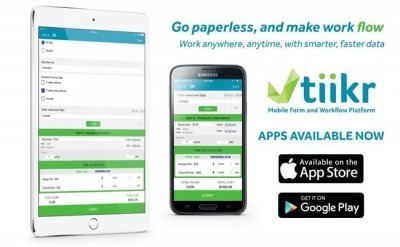 Go paperless and make work flow with tiikr mobile forms and workflows